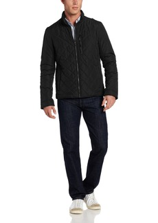Cole Haan Men's Quilted Jacket with Leather Details