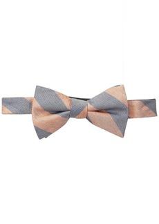 Cole Haan Men's Seahorse Stripe 100% Silk Bow Tie