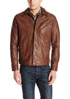 Cole Haan Men's Washed Lamb Leather Jacket