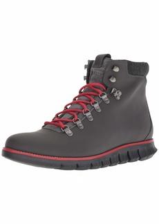 Cole Haan Men's Zerogrand Hiker Fashion Boot Magenta Leather wr/Barbados Cherry/Black  M US