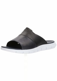 Cole Haan Men's Zerogrand Slide Sandal Black LTHR/Marine Blue/Optic White