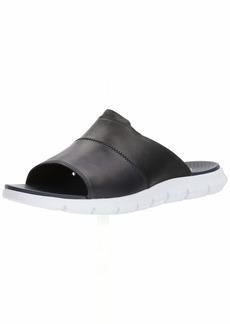 Cole Haan Men's Zerogrand Slide Sandal Black LTHR/Marine Blue/Optic White