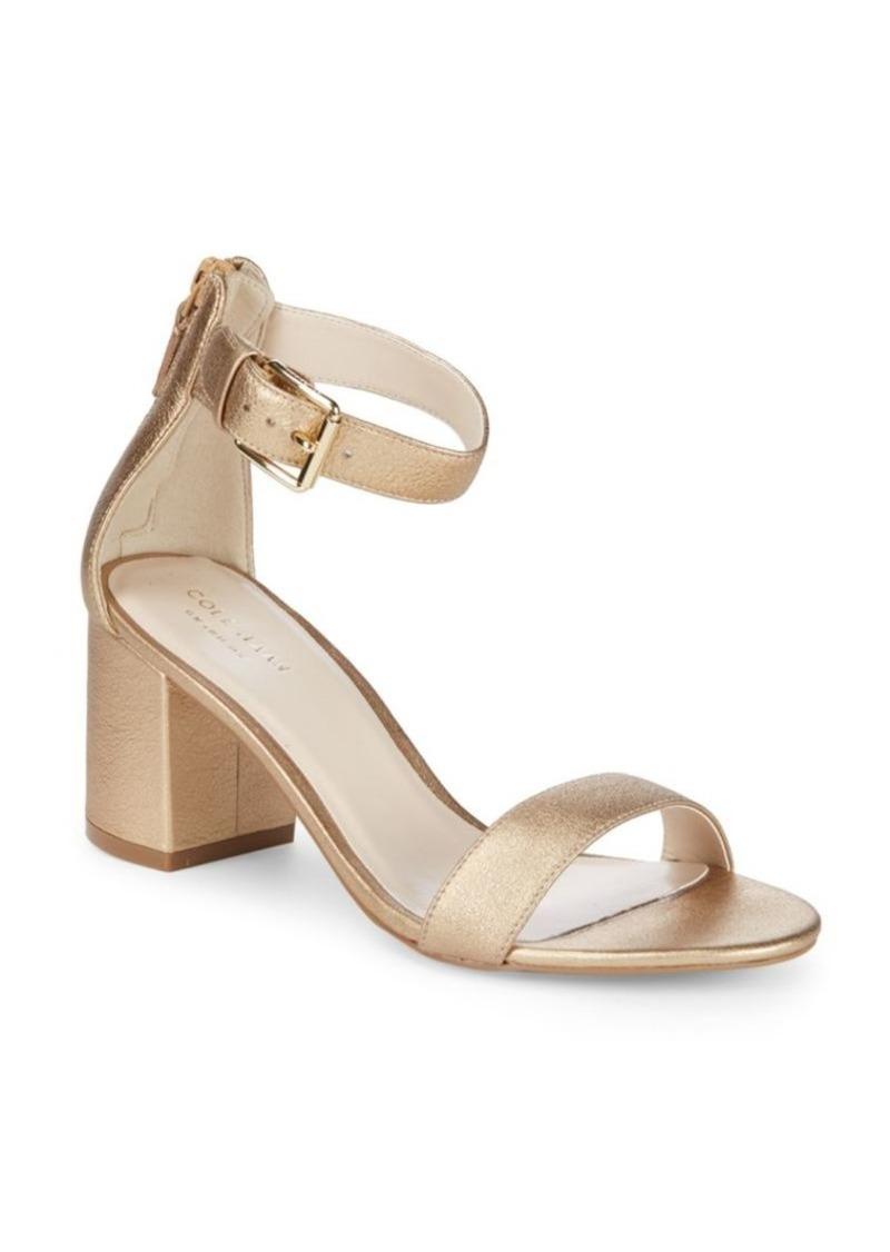 9c290f0059c04 Cole Haan Metallic Block Heel Sandals