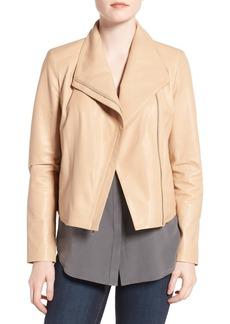 Cole Haan Modern Lambskin Leather Moto Jacket