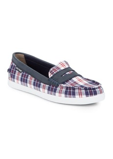 Cole Haan Nantucket Checked Penny Loafers