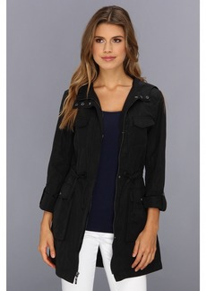 Cole Haan Packable 4 Pocket Zip Up Jacket With Hood