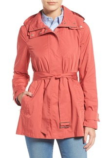 Cole Haan Packable Belted Rain Coat
