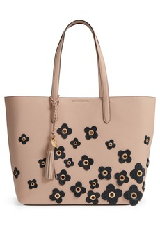 Cole Haan Payson Floral Appliqué RFID Leather Tote