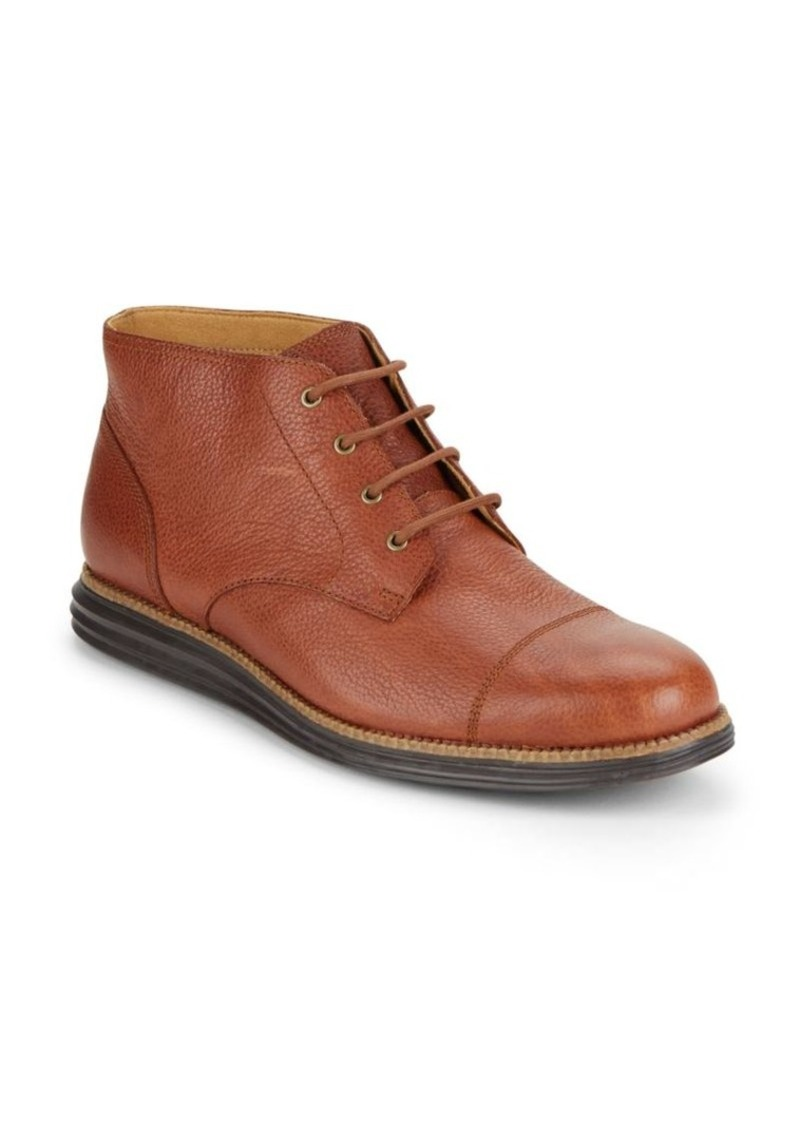 Cole Haan Pebbled Leather Ankle Boots