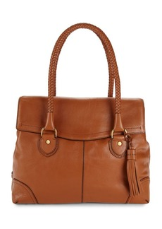 Cole Haan Pebbled Saddle Leather Tote