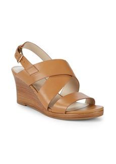 Cole Haan Penelope Wedge Heel Leather Sandals