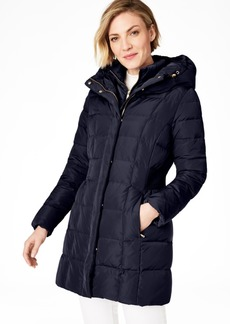 Cole Haan Petite Hooded Down Puffer Coat