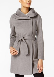 Cole Haan Petite Shawl-Collar Asymmetrical Coat