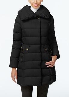Cole Haan Pillow-Collar Asymmetrical Down Coat