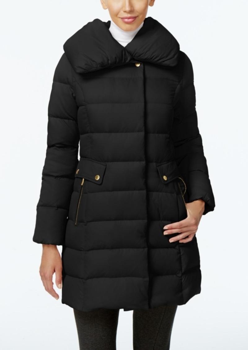 Sale Cole Haan Cole Haan Pillow Collar Asymmetrical Down Coat