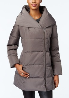 Cole Haan Pillow-Collar Asymmetrical Down Puffer Coat