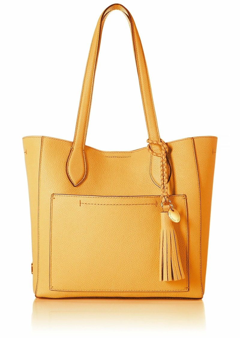 Cole Haan Piper Small Leather Tote sunset gold