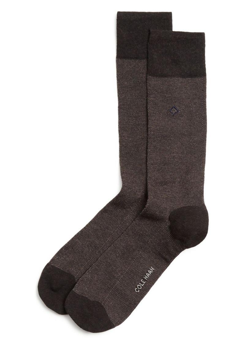 Cole Haan Piqu� Textured Dress Socks