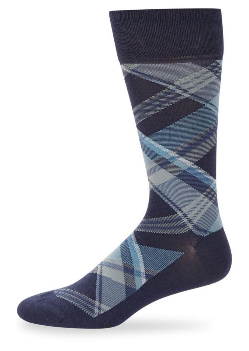 Cole Haan Plaid Crew Socks