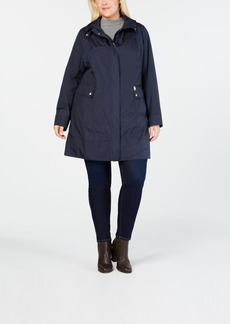 Cole Haan Plus Size Packable Water-Resistant Raincoat