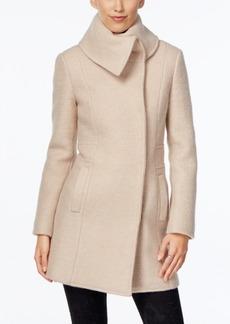 Cole Haan Plus Size Textured Envelope-Collar Walker Coat