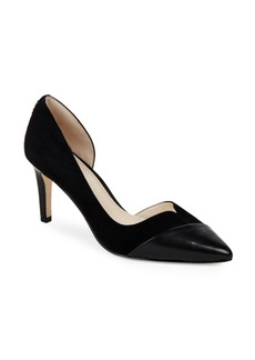 Cole Haan Point-Toe Leather d'Orsay Pumps