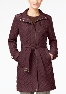 Cole Haan Quilted Belted Coat