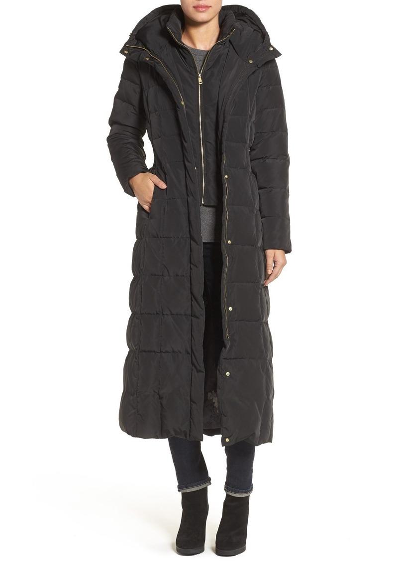 Cole Haan Water Repellent Quilted Coat with Inner Bib (Regular & Petite)
