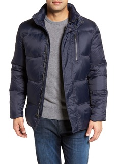 Cole Haan Quilted Jacket with Convertible Neck Pillow