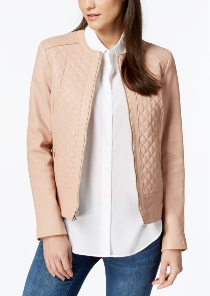 Cole Haan Cole Haan Quilted Leather Jacket Outerwear
