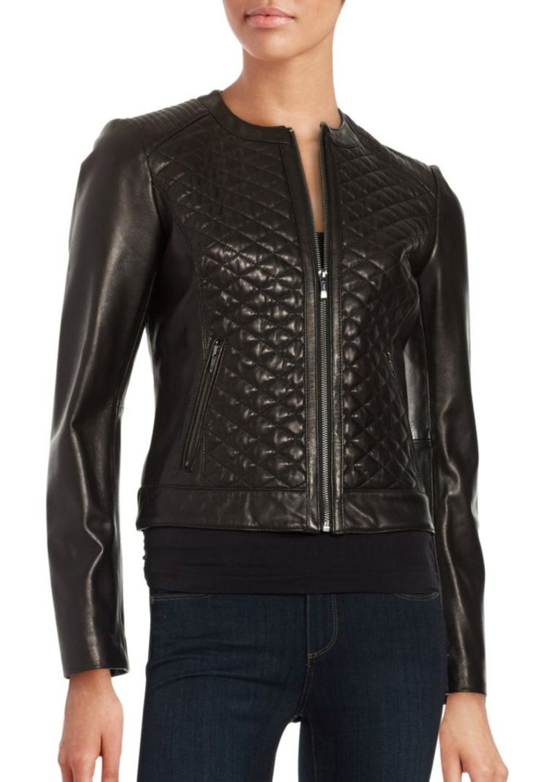 Cole Haan Cole Haan Quilted Leather Moto Jacket Outerwear Shop