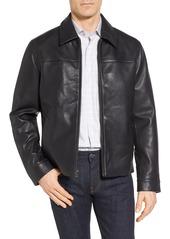 Cole Haan Regular Fit Leather Jacket