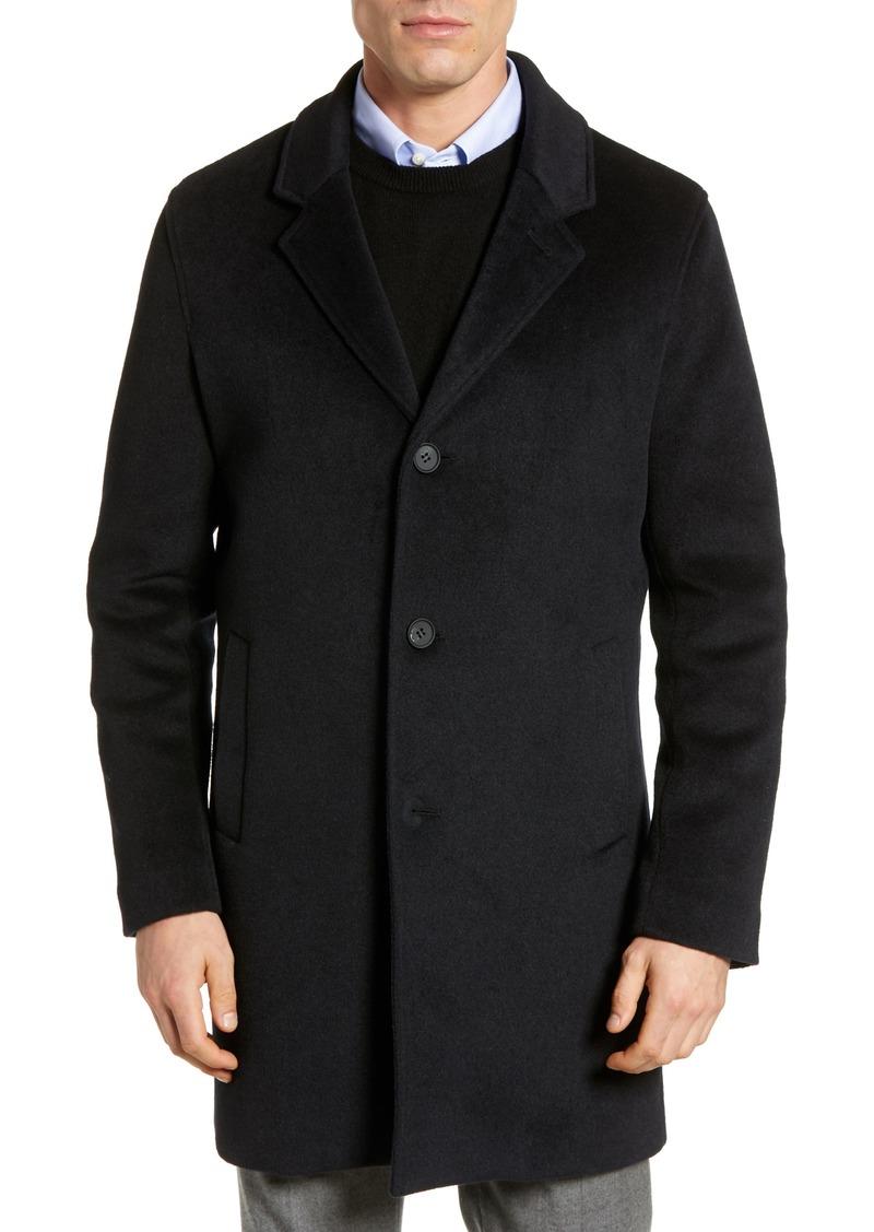 Cole Haan Regular Fit Stretch Wool Coat