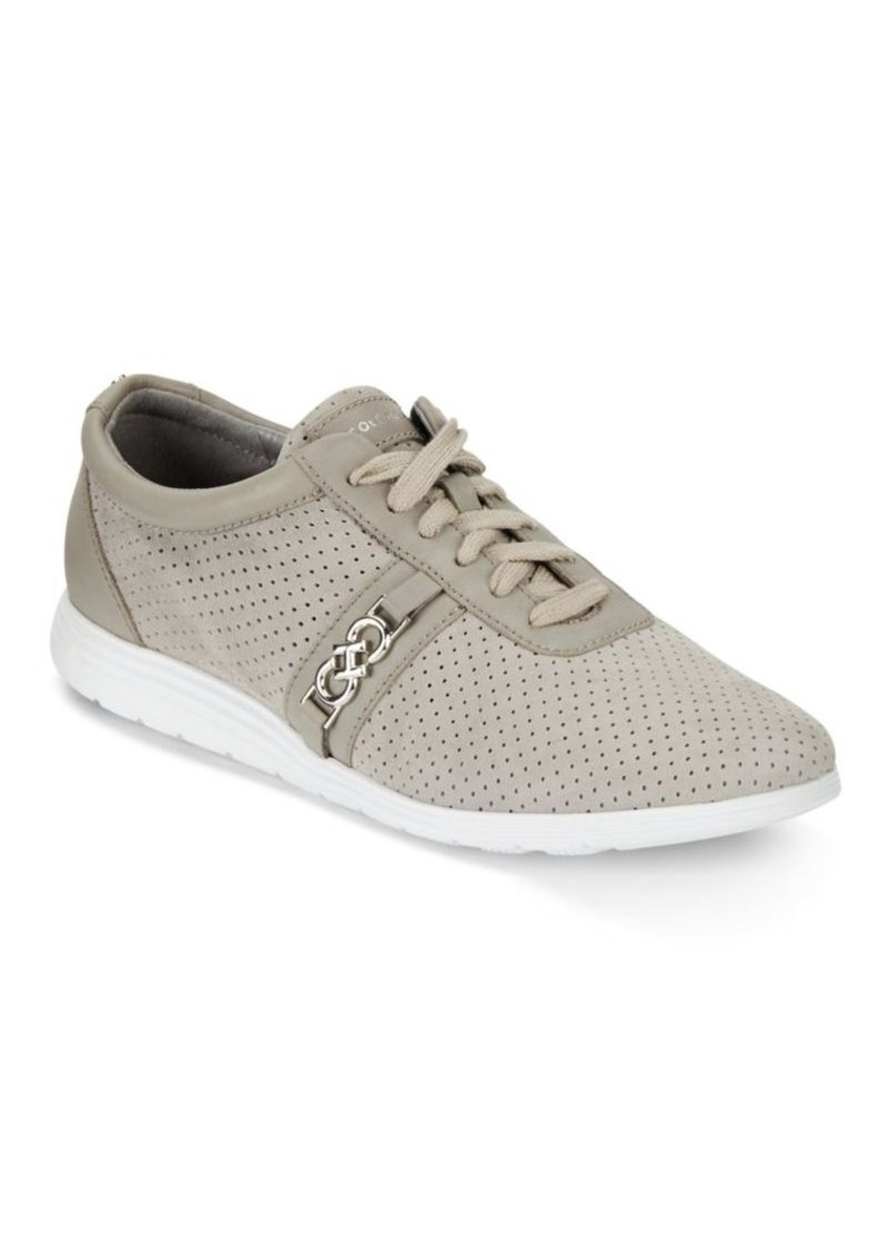 Cole Haan Bria Round Toe Leather Sneakers