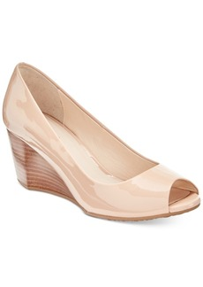 Cole Haan Sadie Open-Toe Wedge Pumps