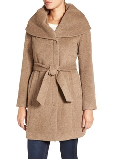 Cole Haan Shawl Collar Belted Coat