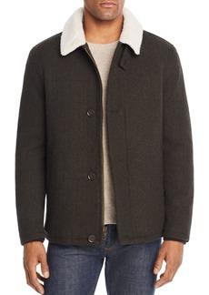 Cole Haan Sherpa-Trimmed Herringbone Jacket