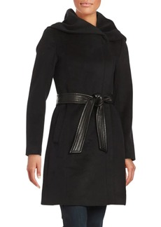 Cole Haan Signature Asymmetrical Coat with Oversized Hood