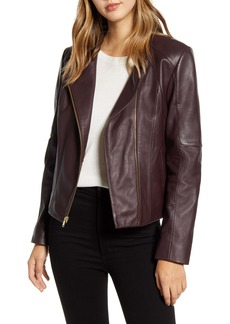 Cole Haan Signature Asymmetrical Zip Leather Jacket