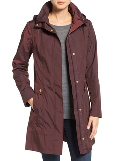 Cole Haan Signature Back Bow Packable Hooded Raincoat
