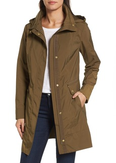 Cole Haan Signature Back Bow Packable Hooded Raincoat (Regular & Petite)