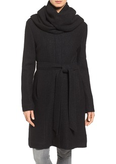 Cole Haan Signature Belted Scarf Front Coat