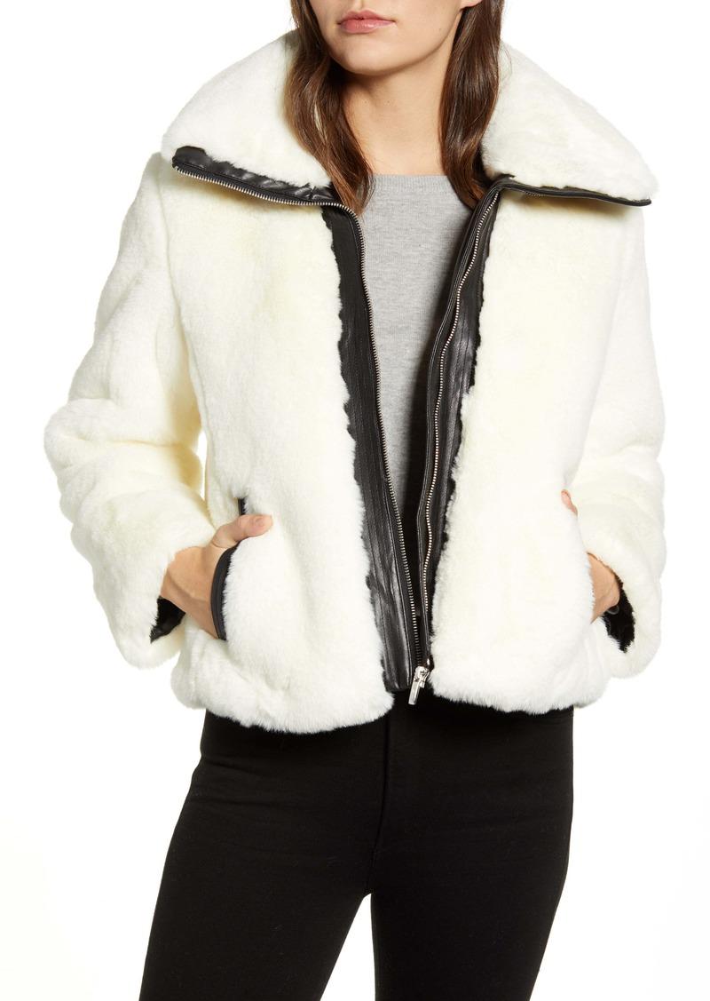 Cole Haan Signature Faux Fur Jacket