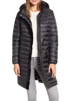 Cole Haan Signature Faux Fur Trim Water Repellent Quilted Coat