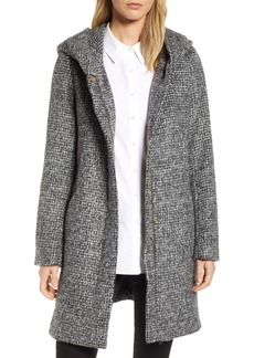 Cole Haan Signature Fuzzy Houndstooth Coat