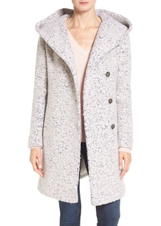 Cole Haan Signature Hooded Bouclé Coat