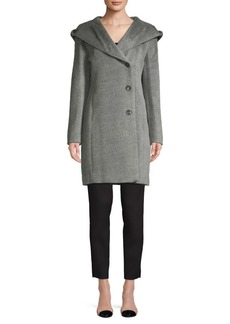 Cole Haan Signature Hooded Wool-Blend Coat