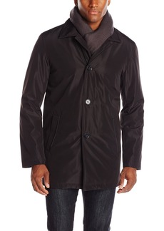 Cole Haan Signature Men's Nylon Car Coat with Attached Scarf