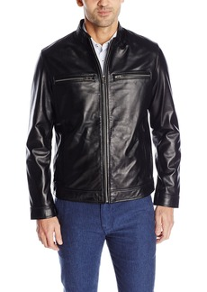 Cole Haan Signature Men's Smooth Lamb Skin Moto Leather Jacket