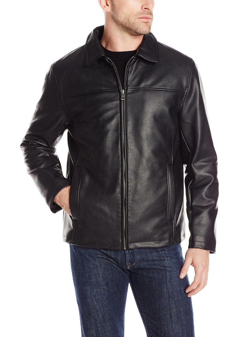 Cole Haan Signature Men's Vegan Leather Shirt Collar Jacket